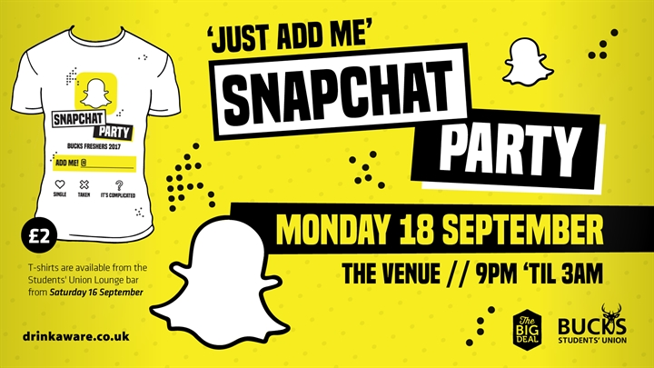 'Just Add Me' - Snapchat Party