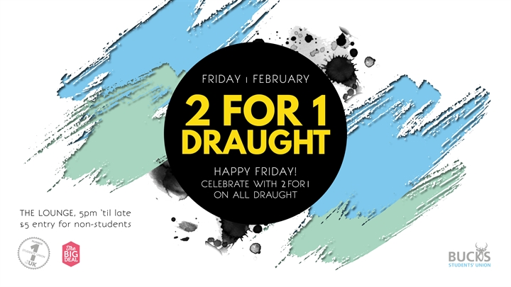 2 For 1 Draught & Six Nations