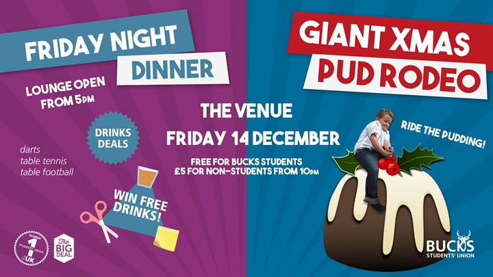 Friday Night Dinner: GIANT Christmas Pudding Rodeo