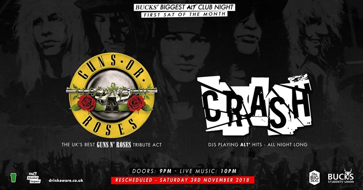 Crash: Guns Or Roses (Guns N' Roses Tribute) - Rescheduled Set