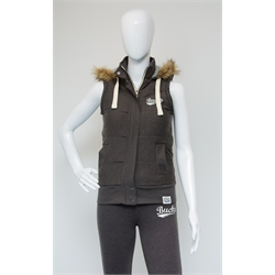 Image for Dark Grey Marl Womens Gilet Size 8