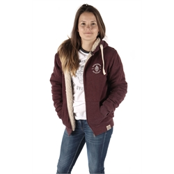 Image for Unisex Chunky Zip Hoodie, Plum Marl, Small