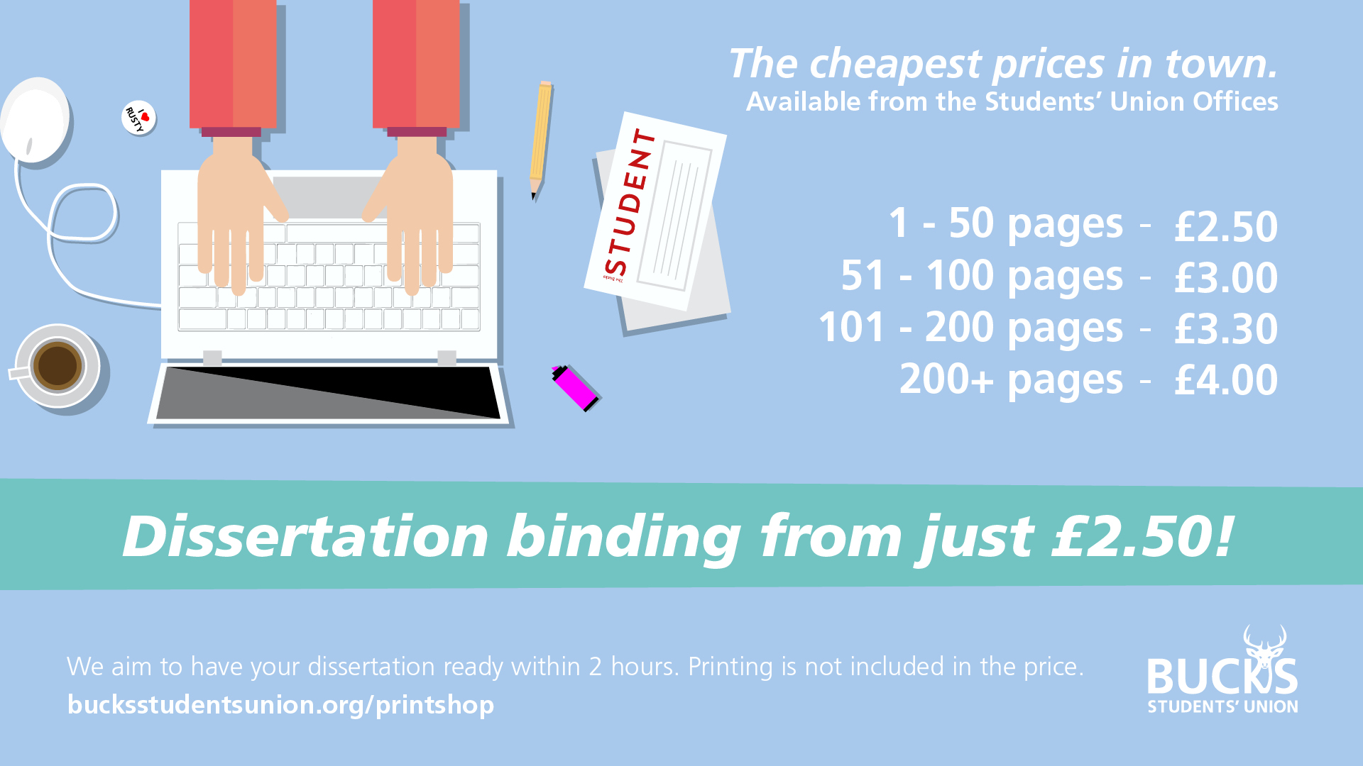 student dissertation binding Binding report/dissertation/thesis binding (available to students and staff)  prices range from £300 to £450 (dependent on document size) drop off and.